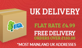 Flat rate delivery at £3.95 plus Free Delivery over £150