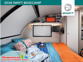 2018 Swift Basecamp Bed Made Up