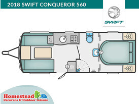 2018 Swift Conqueror 560 Floor Plann