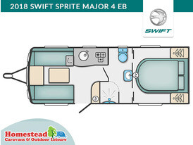 2018 Swift Sprite Major 4 EB Floor Plan