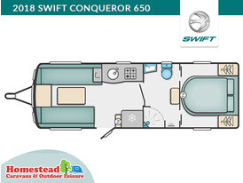 2018 Swift Conqueror 650 Floor Plan