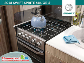 2018 Swift Sprite Major 6 3 Burner Hob