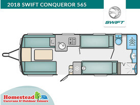 Swift Conqueror 565 Floor Plan