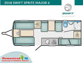 2018 Swift Sprite Major 6 Floor Plan