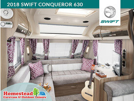 2018 Swift Conqueror 630 L Shape Lounge