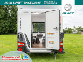 2018 Swift Basecamp One Piece Door