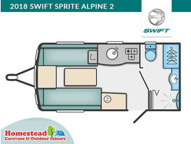 2018 Swift Sprite Alpine 2 Floor Plan