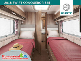 2018 Swift Conqueror 565 Fixed Beds