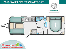 2018 Swift Sprite Quattro EB Floor Plan