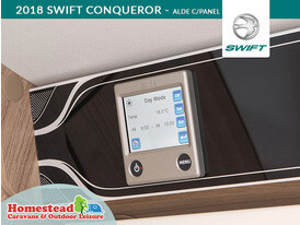 2018 Swift Conqueror Alde Control Panel