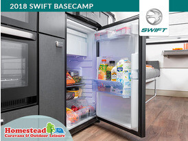 2018 Swift Basecamp Dometic Fridge