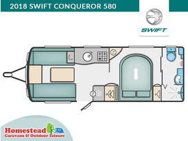 2018 Swift Conqueror 580 Floor Plan