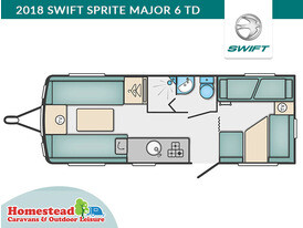 2018 Swift Sprite Major 6 TD Floor Plan