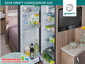 2018 Swift Conqueror 565 Dometic Slimline Fridge