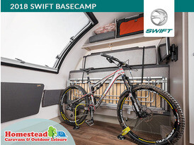2018 Swift Basecamp Front Seat Up Bike Stored