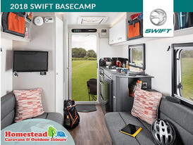 2018 Swift Basecamp Front to Rear