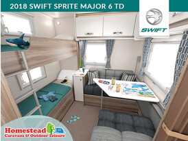 2018 Swift Sprite Major 6 TD Rear Seating Bunks