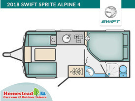 2018 Swift Sprite Alpine 4 Floor Plan