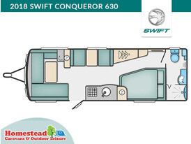 2018 Swift Conqueror 630 Floor Plan