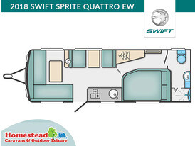 2018 Swift Sprite Quattro EW Floor Plan
