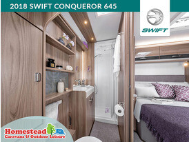 2018 Swift Conqueror 645 Bedroom Washroom