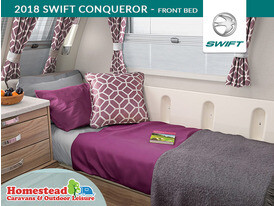 2018 Swift Conqueror Front Bed