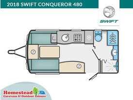 2018 Swift Conqueror 480 Floor Plan