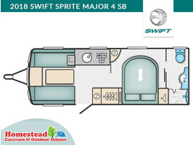 2018 Swift Sprite Major 4 SB Floor Plan