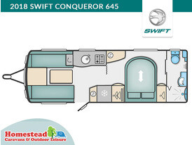 2018 Swift Conqueror 645 Floor Plan