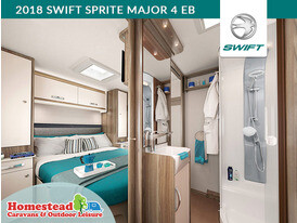 2018 Swift Sprite Major 4 EB Bedroom and Bathroom