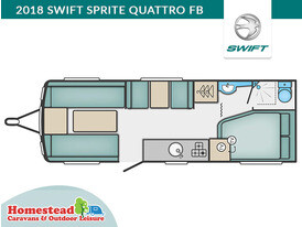 2018 Swift Sprite Quattro FB Floor Plan