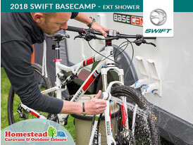 2018 Swift Basecamp Exterior Shower