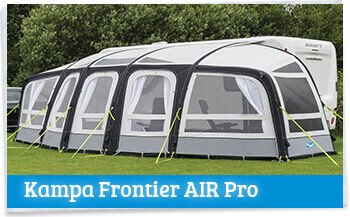 Kampa Frontier AIR Pro Awning Set Up On Field