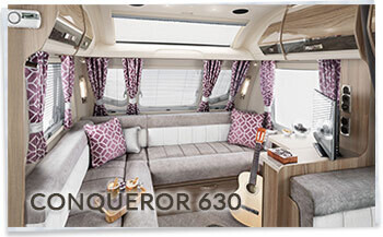 Swift Conqueror 630 L shaped lounge