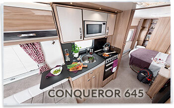 Swift Conqueror 645 kitchen