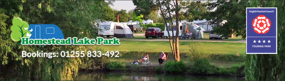 Call 01255 833-492 to book your ideal plot at Homestead Lake Touring Park