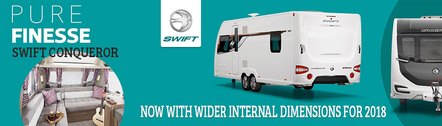 2018 Swift Conqueror now with wider internal dimensions