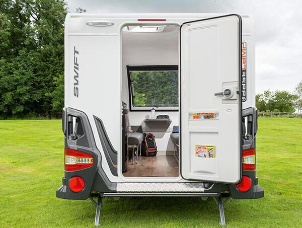 All New Swift Basecamp Compact Caravan - Homestead Caravans