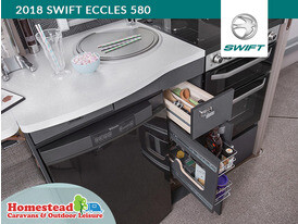 2018 Swift Eccles 580 Kitchen Cutlery Draw and Basket