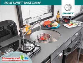 2018 Swift Basecamp Kitchen Sink and Worktop