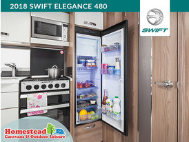 2018 Swift Elegance 480 Slimline Fridge
