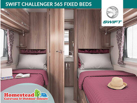 Swift Challenger 565 Fixed Beds
