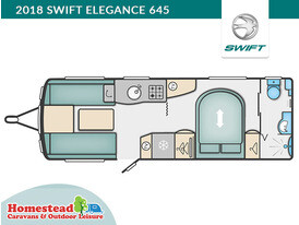 2018 Swift Elegance 645 Floor Plan