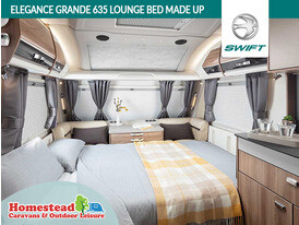 Swift Elegance Grande 635 Lounge with Bed Made Up