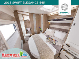 2018 Swift Elegance 645 Fixed Island Bed