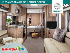 Swift Elegance Grande 645 Front to Rear Leather Option