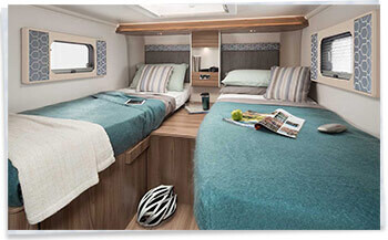 Swift Escape 684 Twin Bed