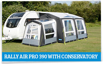 Kampa Rally AIR Pro 390 with Conservatory