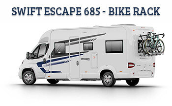 Swift Escape 685 with Thule Bike Rack