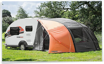 Swift Basecamp Exterior with awning